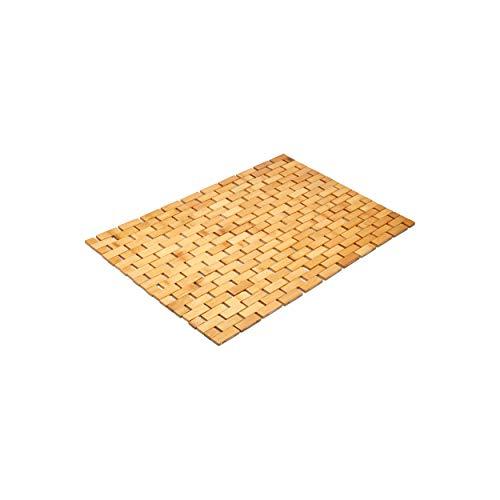 """Morvat Bamboo Bath Mat, Bamboo Shower Mat, Bamboo Floor Mat, Wood Bath Mat, Wood Shower Mat, Non Slip, Moisture Resistant, Lattice Design, Quick Drying, 27""""x16"""""""